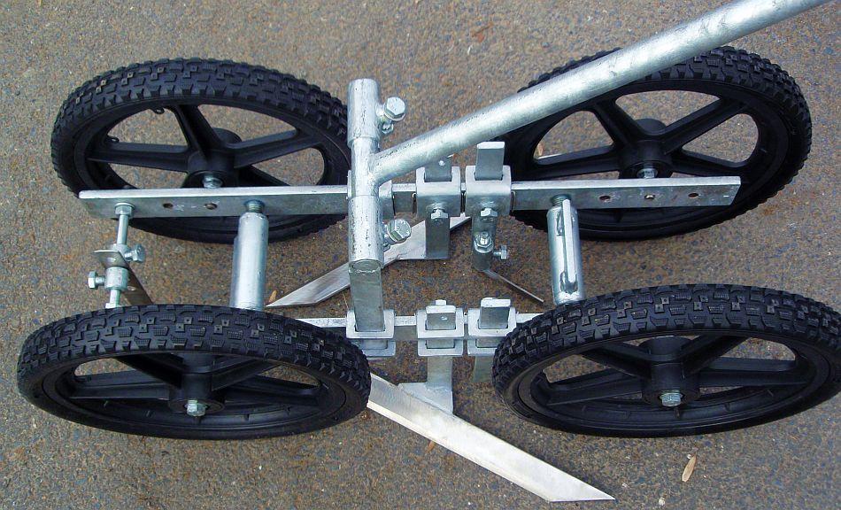 Four wheel hoe